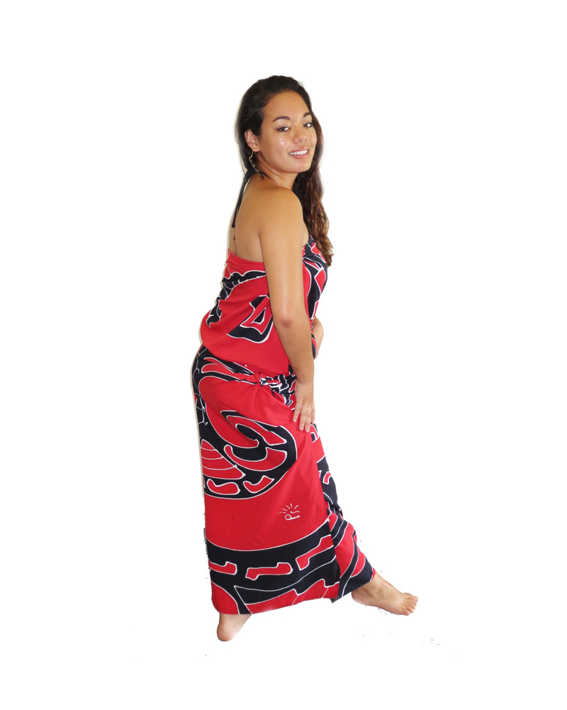 Maori Tattoo Shop: Maori Tattoo Sarong, Black & Red