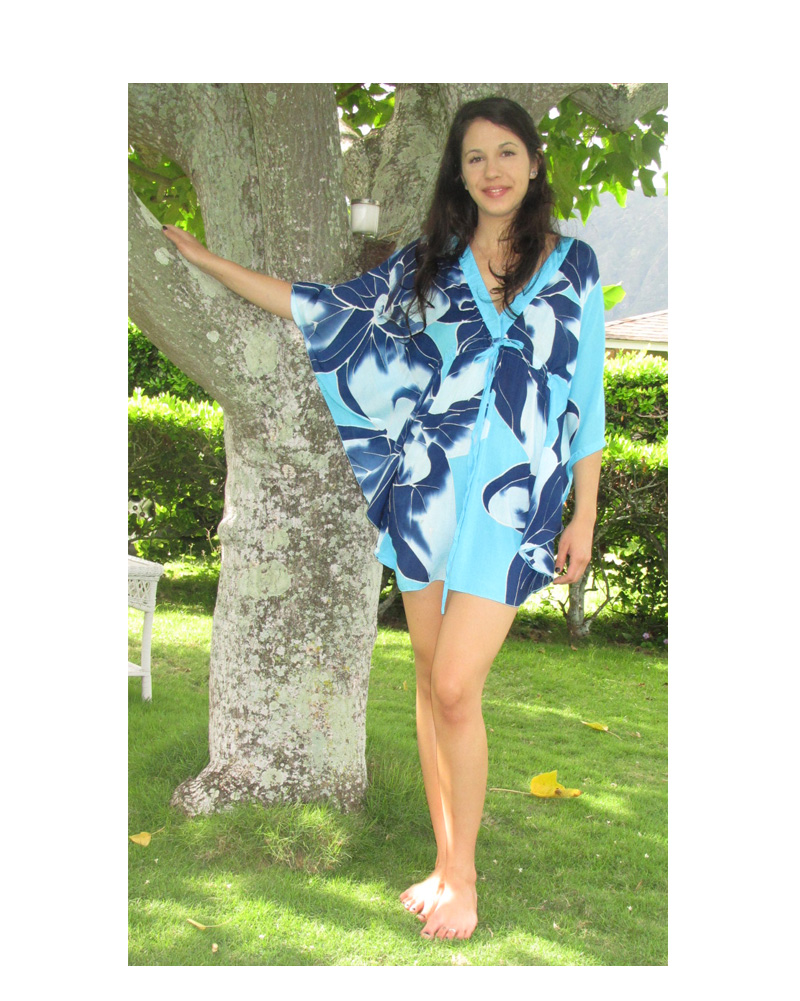 c7b75a14dd Empire Waist Cover-up, Blue & Turquoise | Pareo Island